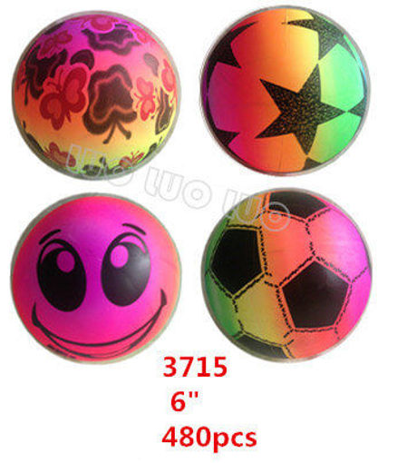 Picture of Rainbow Color Inflatable Ball Assorted Styles 6' 40 dz