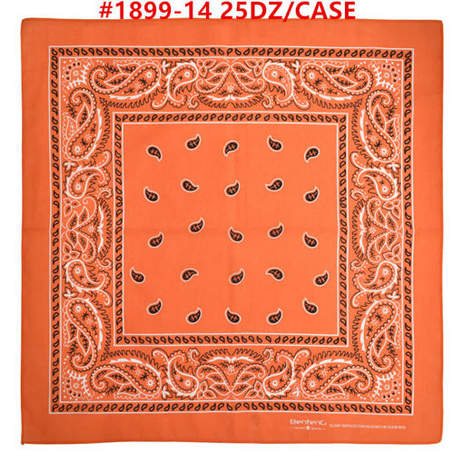 Picture of Orange Color Bandana 25 dz