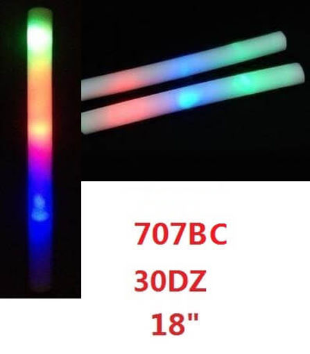 "Picture of Flashing Multicolor Light Foam Stick 18"" 30 dz"