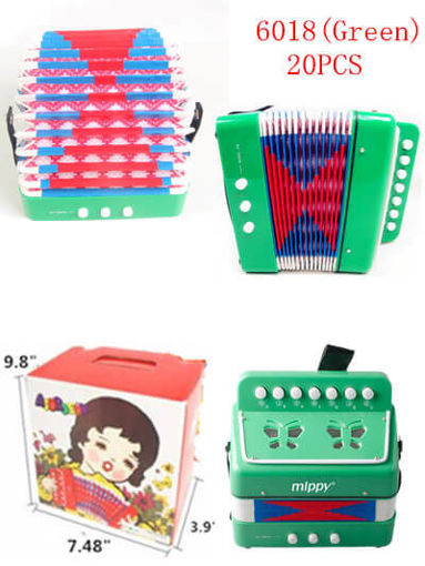Picture of Green Color Musical Accordion 20 pc