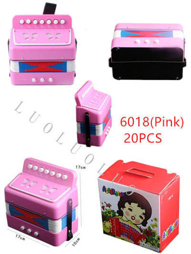 Picture of Pink Color Musical Accordion 20 pc
