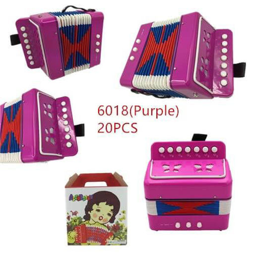 Picture of Purple Color Musical Accordion 20 pc