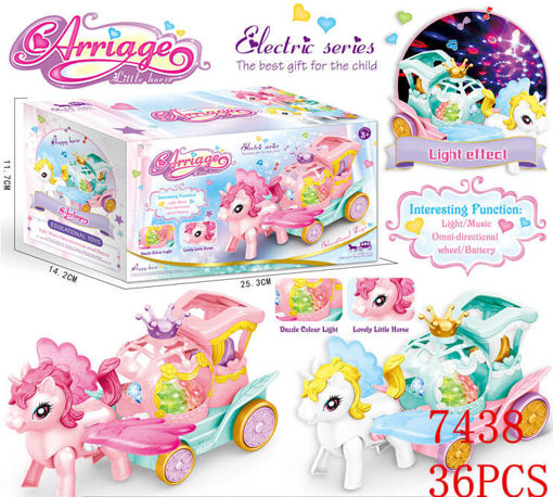 Picture of Flashing Unicorn Carriage w/Sound 36 pc