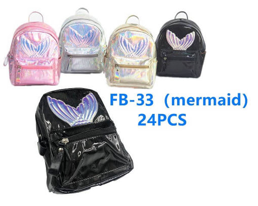Picture of Metallic Mermaid Tail Mini Backpack 36 pc