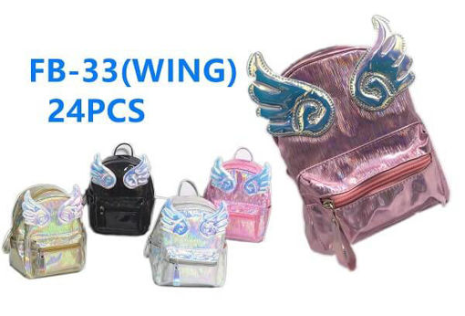 Picture of Wings Metallic Mini Backpack 36 pc