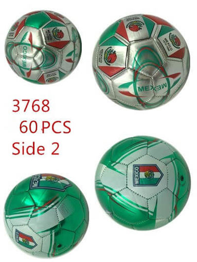 "Picture of Mexico Inflatable Soccer Ball 6"" 60 pcs"