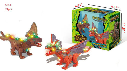 Picture of Fiery Dragon-Dino Toy w/Light & Sound 24 pc
