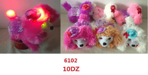 Picture of Poodle Walking Dog w/Hat & Tutu (Light on Tail & Hat) 120 pc