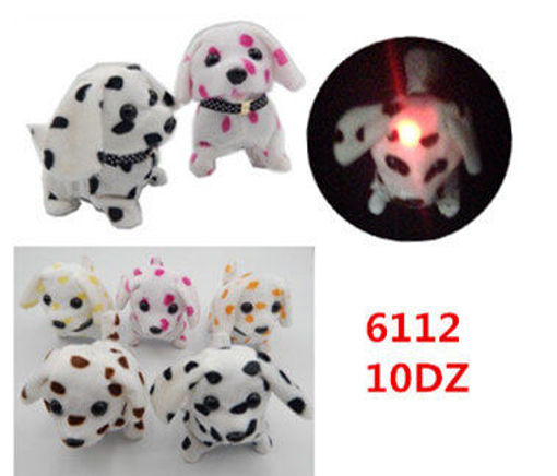 Picture of Assorted Color Dalmation Walking Dog Light on Tail 120 pc (#6112)
