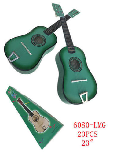 "Picture of Green Color Guitar 23"" 20 pc"