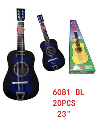 "Picture of Guitar Black-Blue Color 23"" 20 pc"