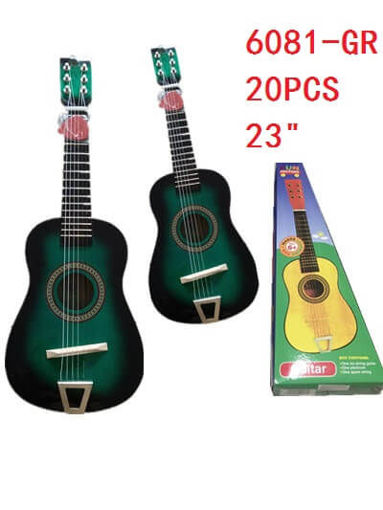 "Picture of Guitar Green Color 23"" 20 pc"