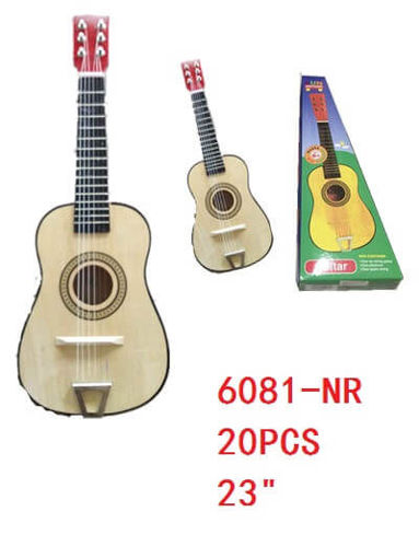 "Picture of Guitar Natural Color 23"" 20 pc"