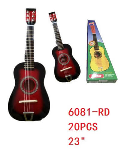 "Picture of Guitar Red Color 23"" 20 pc"
