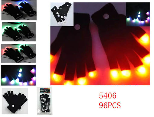 Picture of LED Black Gloves 96 pcs