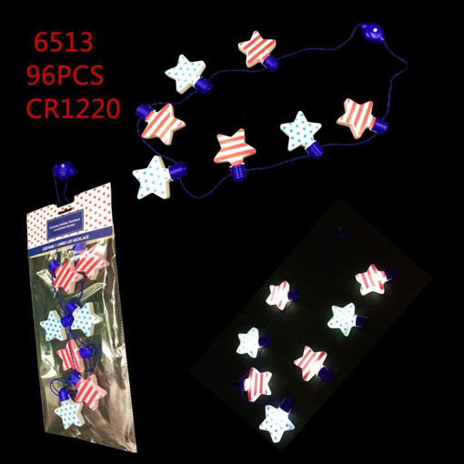 Picture of LED Stripe Star Necklace 96 pcs