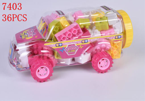 Picture of Pink-Trucks Blocks 36 pc