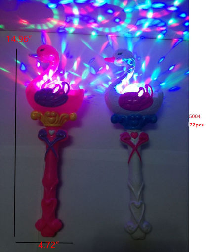 "Picture of Musical/Flashing Swan Wand 19"" 72 pc"