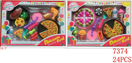 Picture of Delicous Pizza Play Set Window Box 24 pcs