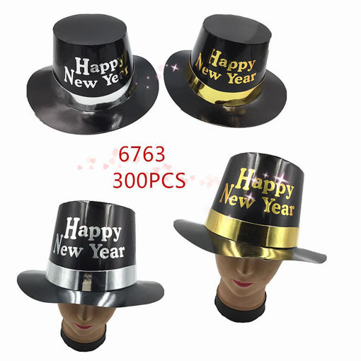 Picture of Happy New Year Black Color Hat 17 dz