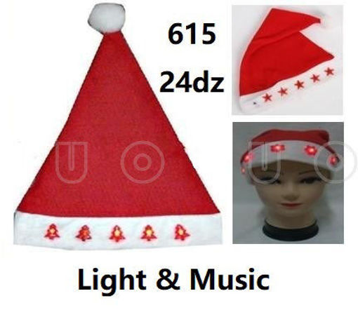 Picture of Christmas Light Up Hat w/Music 24 dz