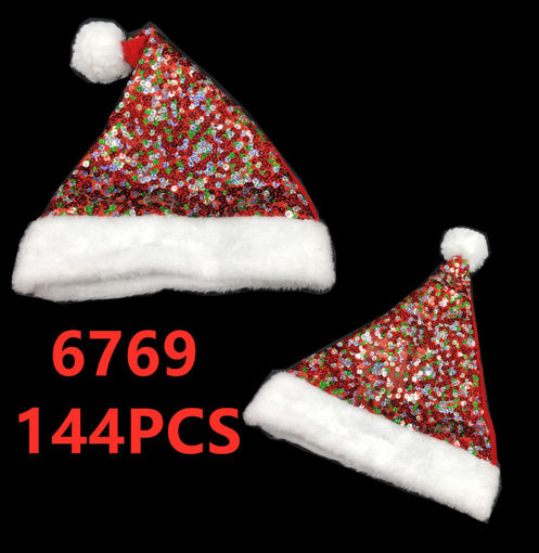 Picture of Multicolor Sequense Christmas Hat 144 pc