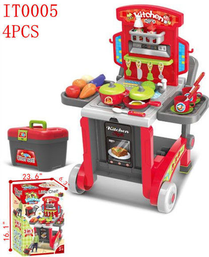 Picture of Little Chef Kitchen Play Set- Carry on 4 pcs