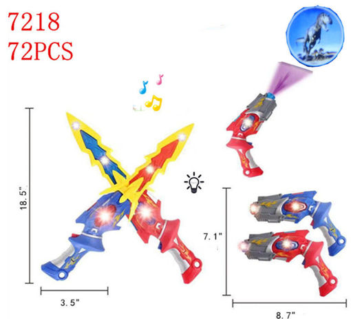 Picture of Flashing Space Gun/Sword (2 in 1) 72 pc