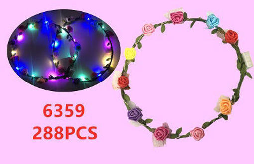 Picture of Small Flower LED Headband 24 dz