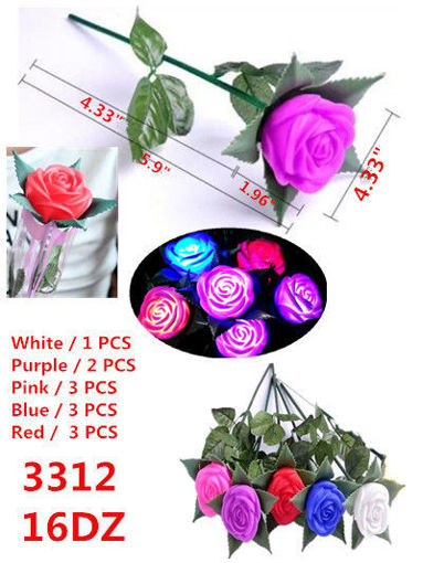 Picture of LED Flashing Flower Assorted Colors 16 dz