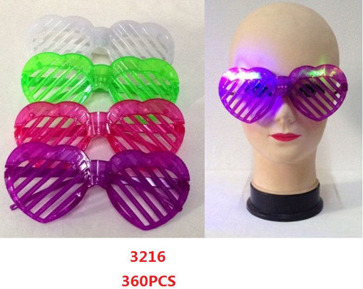 Picture of LED Heart Shape Glasses 30 dz