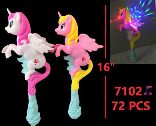 Picture of Unicorn Flashing-Musical Wand 72 pc