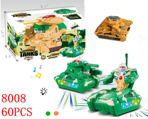 Picture of Flashing Musical Tank Transformers 60 pc